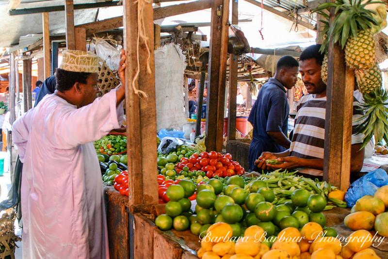 Fruit market in Zanzibar