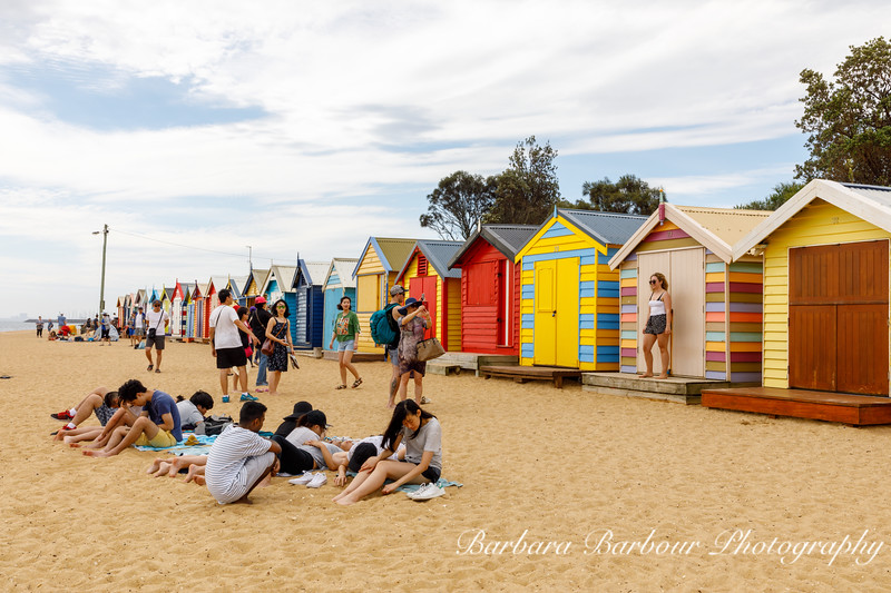 beach boxes i Brighton, Australia
