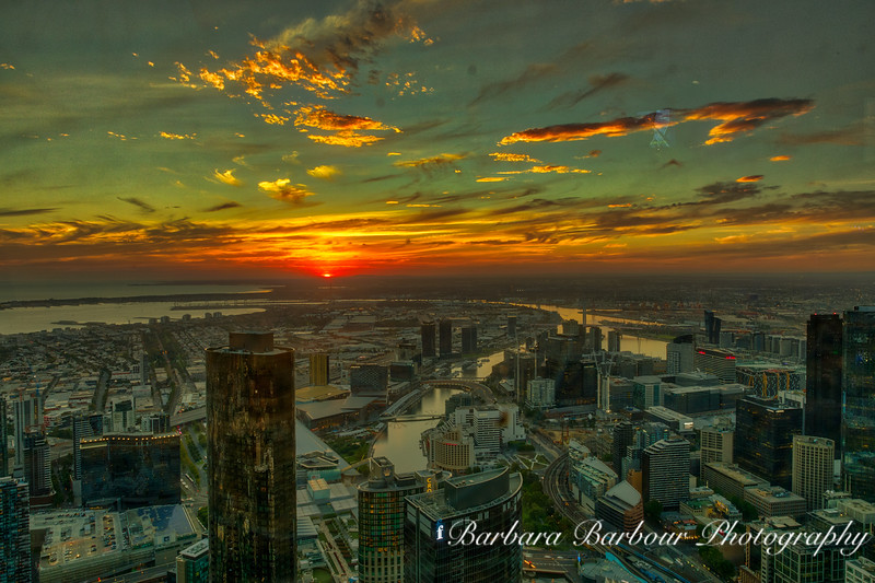 Sunset over Melbourne, Australia