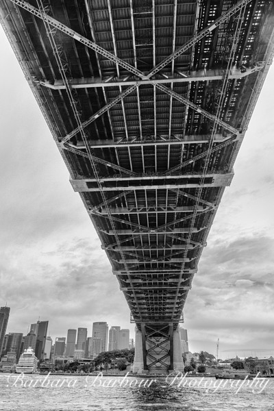 View from under the Sydney Harbor Bridge