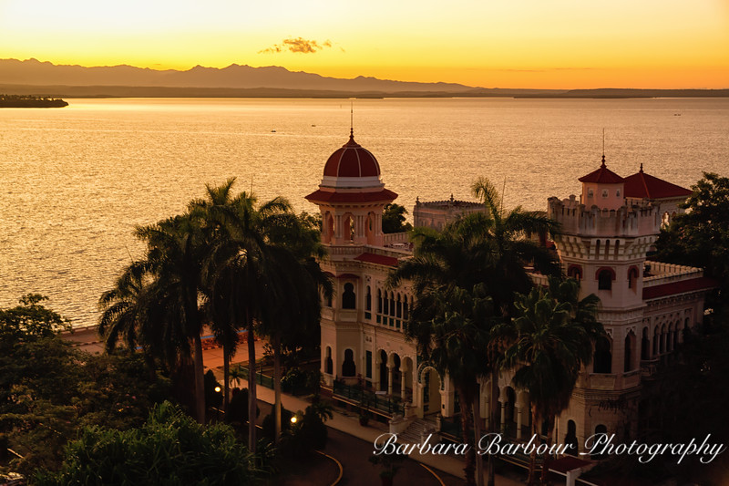 Valle Palace in Cienfuegos at dawn