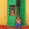Couple in their doorway in Trinidad, Cuba