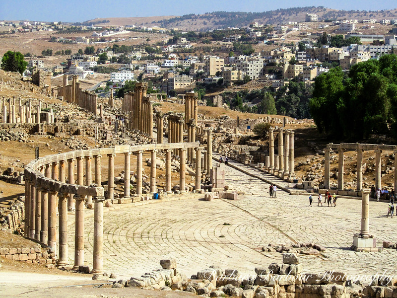 Forum in the ancient city of Jerash, Jordan