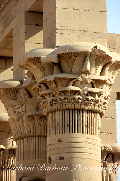 Columns at Ptilemaic Temple of Isis, Philae, Egypt