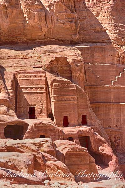 Fascades in Petra, Jordan
