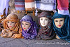 Woman's head scarfs, Petra, Jordan