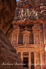 First glimpse of the Treasury in Petra