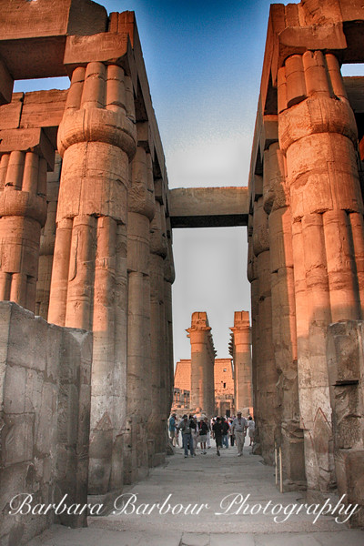 Columns at Temple of Luxor