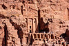 Facade at Petra with tourtists, Jordan