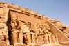Facade of Temple dedicated to  Rameses II, Abu Simbel, Egypt