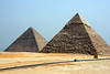 Pyramids of Khoeps and Menkaure,  Giza, Egypt