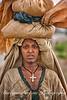 Woman on road, Addis Ababa, Ethiopia