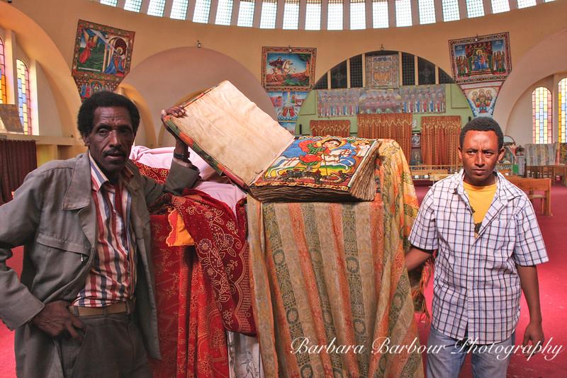 Holy book, St Mary's Church, Axum, Ethiopia