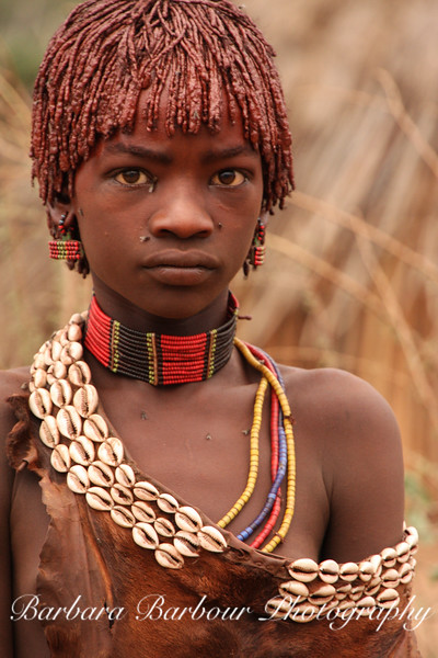 Young woman, Hamer tribe