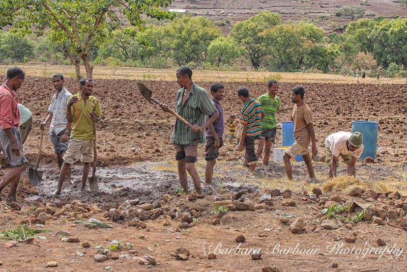 making bricks, Awra Amba Village, Ethiopia