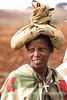 Woman on road, Addis
