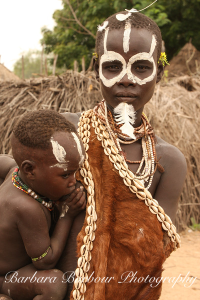 Karo woman and baby