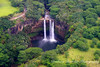close up Waterfal from helicopter
