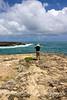 View along northern coast of Oahu, Hawaii