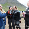 Young Women wearing Icelandic Sweaters in Isafjorour