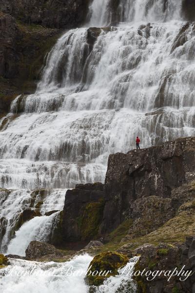 Dynjandi Waterfall, Western Coast of Iceland