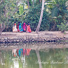 beautiful reflection of women wearing Sari's
