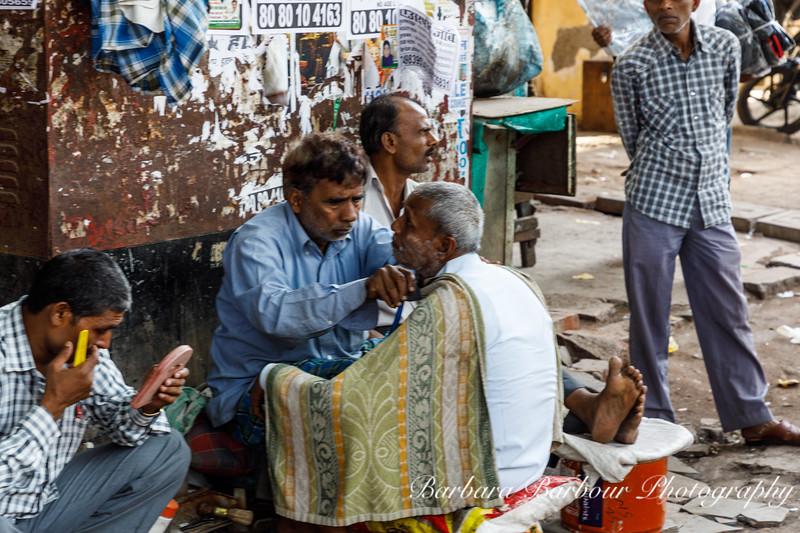 Barber in Dharavi's slums