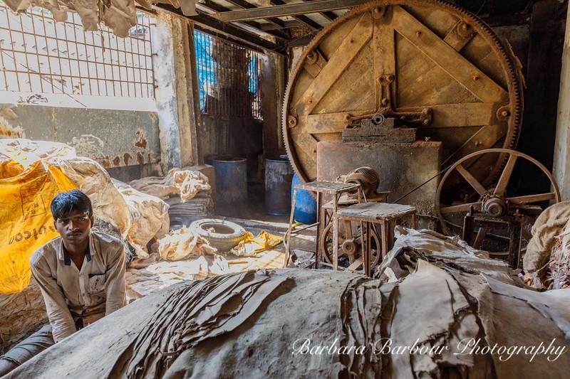 Making leather, Dharavi Slum