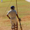 Cricket player, next at bat