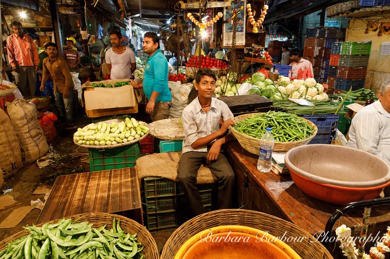 Mumbai produce market at dawn