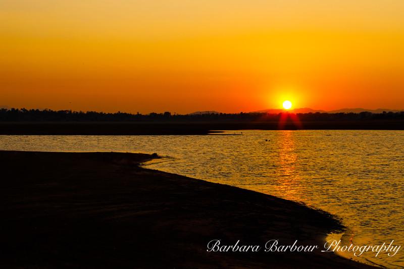 Sunset over Kabini river