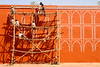 Scaffolding at City Palace in Jaipur