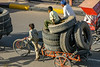 Moving tires, Jaipur