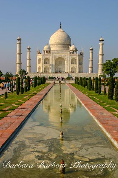 Taj Mahal with pool reflection