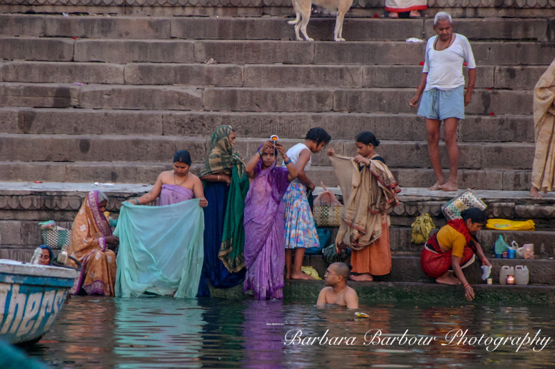 Bathers in the holy Ganges River