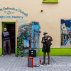 Shopkeeper and Street Preformer, Galway