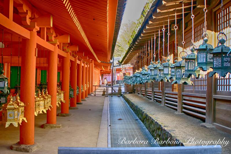 Lanterns at Heian Jingu Shrine, Kyoto, Japan