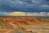 Flaming cliffs Gobi Desert