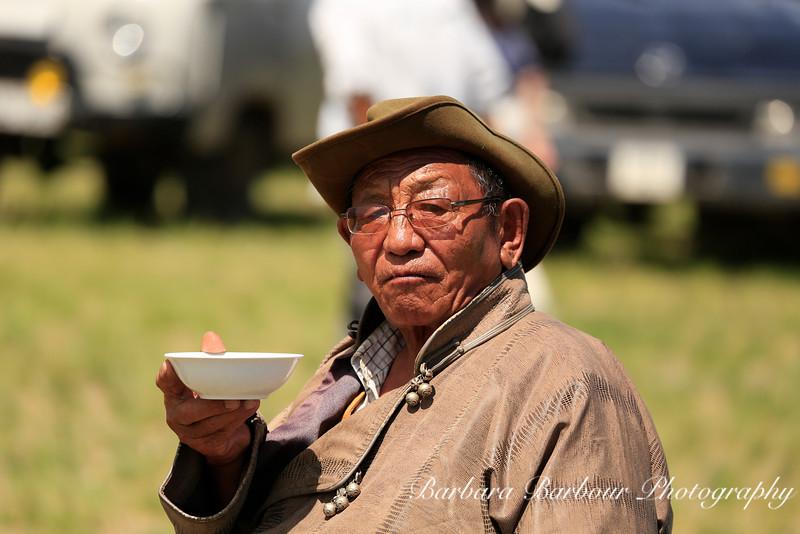 Man Drinking Mares Milk,<br /> Naadam Festival