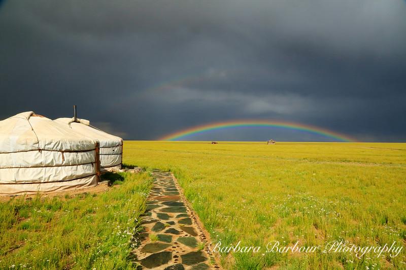 Rainbow over Gobi Desert