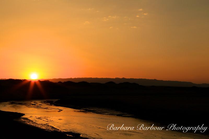 Dawn at Sand Dunes, <br /> Gobi Desert
