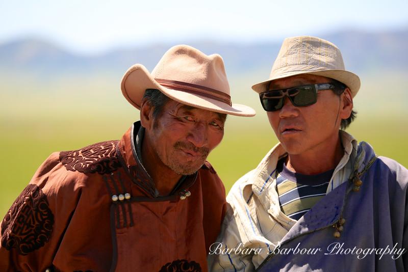 2 men at the Naadam Festival, Mongolia