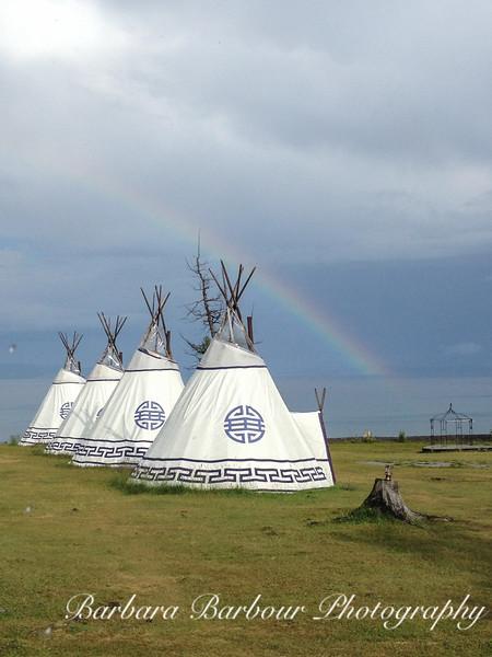 Rainbow over Ger Camp, Lake Hovsgol