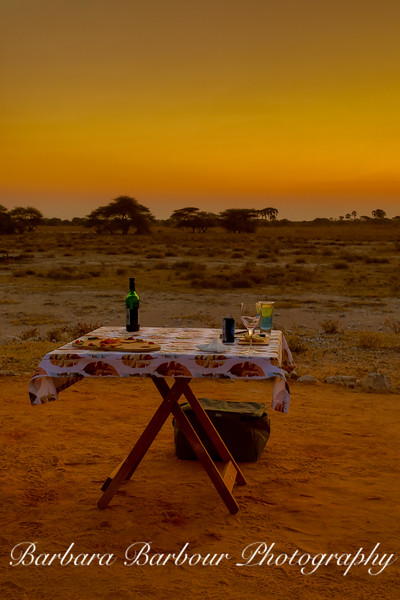 Sundowner in Etosha