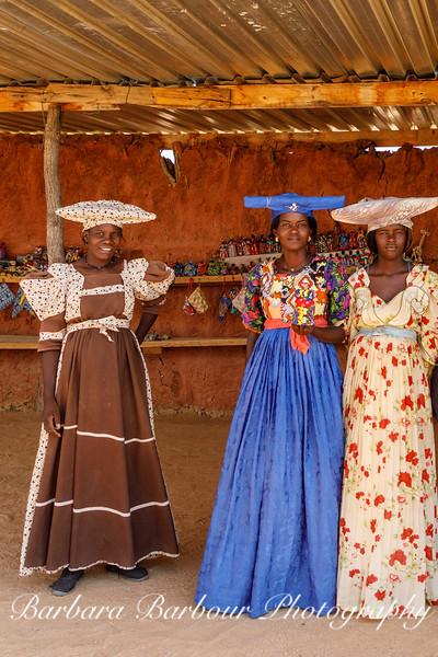 Herero women at roadside market