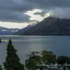 dusk over mountains in Queenstown, New Zealand