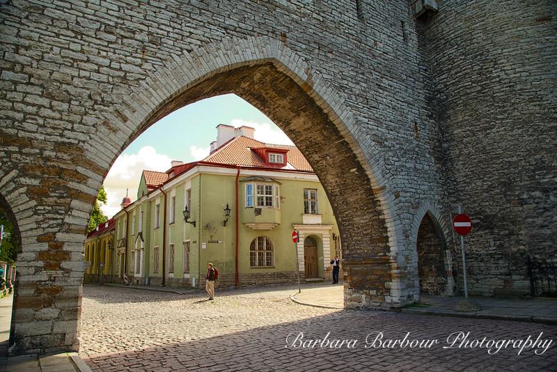 Archway into Tallinn, Estonia