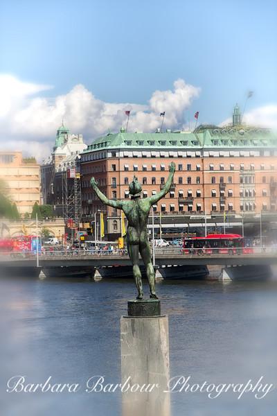 Statue in Stockholm, Sweden
