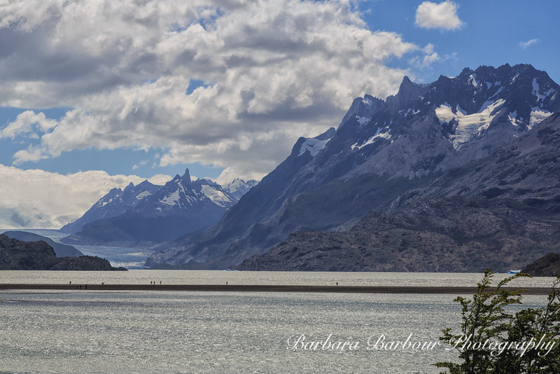 """Section of """"W"""" trail in Torres del Paine National Park in Chile"""