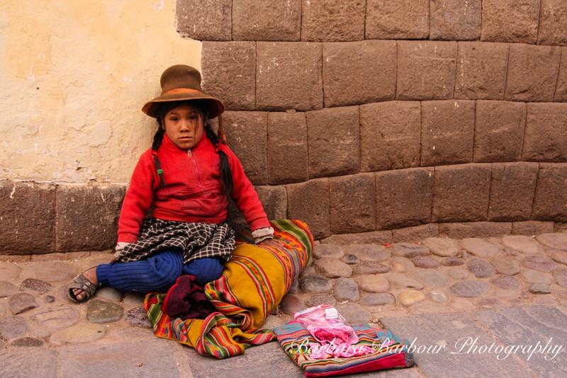 Young Girl on street in Cusco, Peru